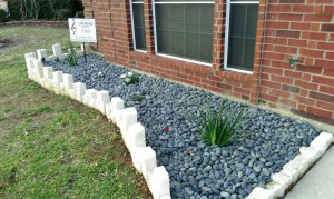 Flower bed with a custom and clean look.